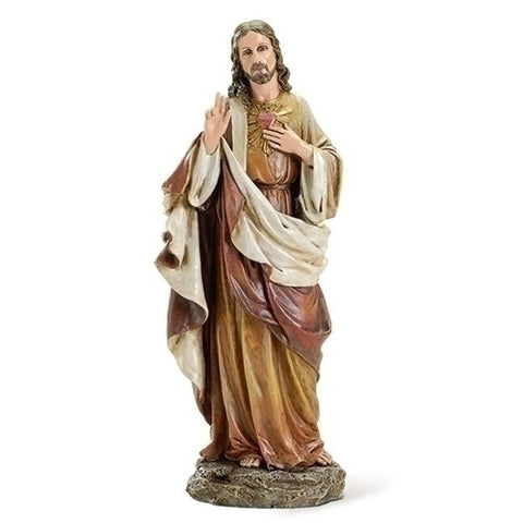 "10.25"" SACRED HEART OF JESUS STATUE"