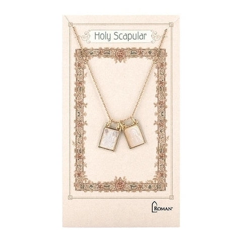 "DOUBLE SCAPULAR NECKLACE GOLD; +2"" EXTENDER"