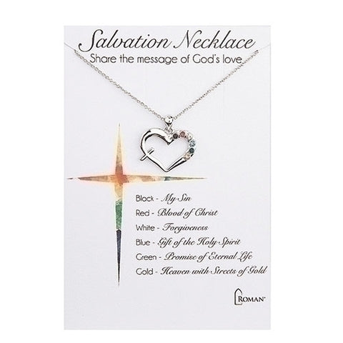 SALVATION HEART/CROSS NECKLACE