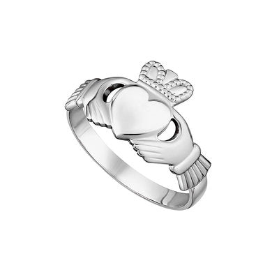 SILVER MAIDS CLADDAGH RING