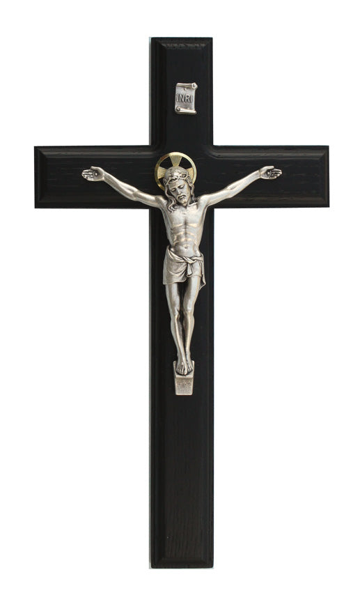 "11"" Black Finish Crucifix"