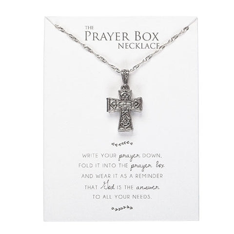 Cross Prayer Box Necklace