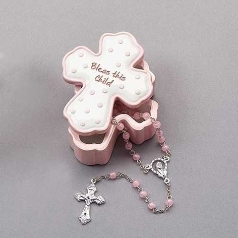 Bless This Child (Girl) Box with Rosary