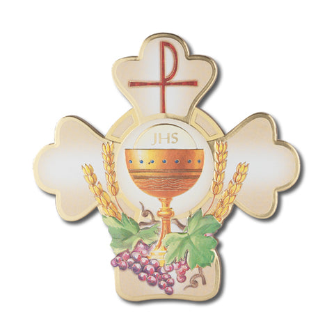 FIRST COMMUNION CROSS PLAQUE WITH HANGER AND STAND