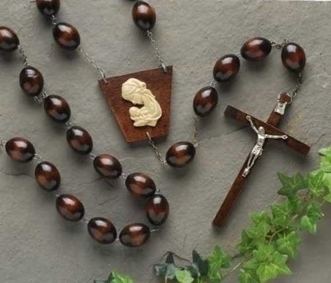 Extra Large Dark Brown Wood Wall Rosary