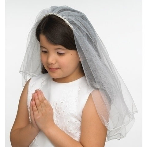 First Communion Veil pearls