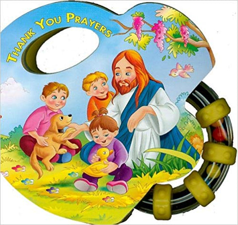 Thank You Prayers Rattle Board Book
