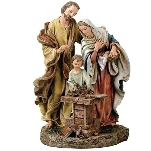 Holy Family statue with carpenter workshop
