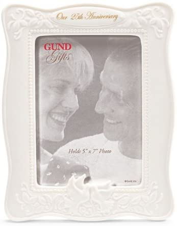 Hearts United 25th Wedding Anniversary Photo Frame