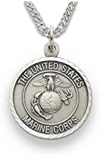 Military Women's Marines Medal, St. Michael on Back