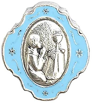 First Communion Blue Metal Keepsake Box - Boy