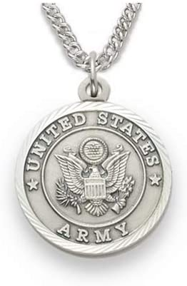 Military Women's Army Medal, St. Michael on Back