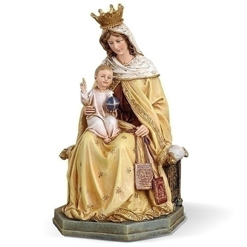 "8"" OUR LADY OF MT CARMEL FIGURE; RENAISSANCE COLLECTION"