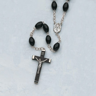 Large Black Wood Family Rosary