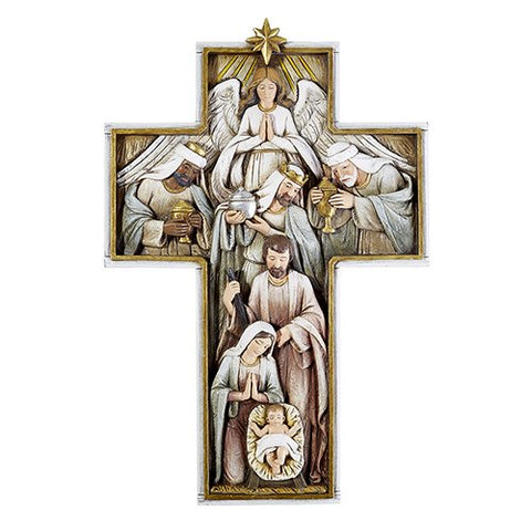 "12 1/4"" Nativity Cross Plaque"