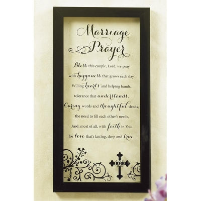 MARRIAGE PRAYER CLEAR WALL PLAQUE
