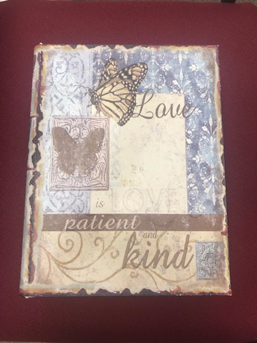 Love is Patient Love is Kind, Decorative Wood Bible Holder
