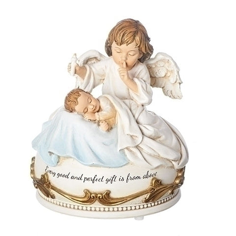 Hush-a-bye baby musical statue