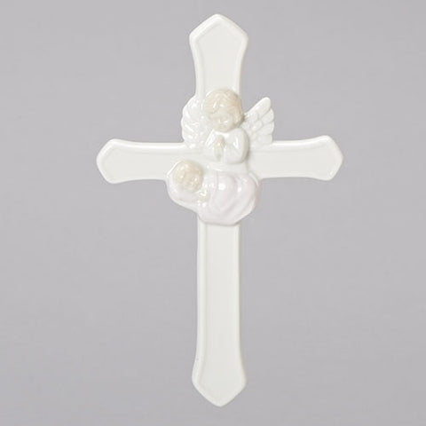 "7.25"" VALENCIA GIRL GUARDIAN ANGEL CROSS"