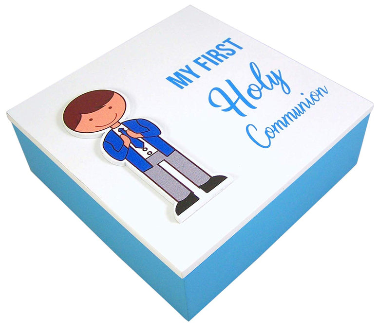 Boy's Blue First Communion Rosary Box, 5 1/2 Inch