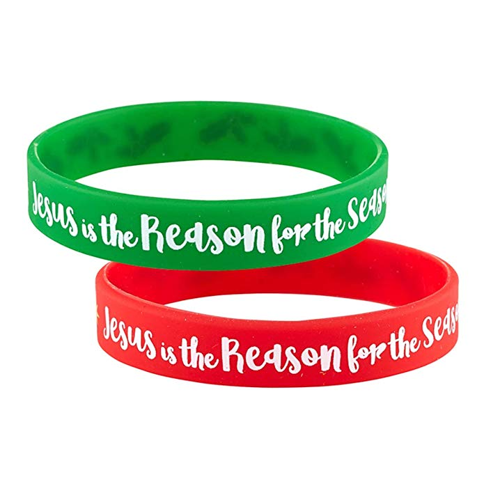 Jesus is the reason for the season Silicone Christmas Bracelets