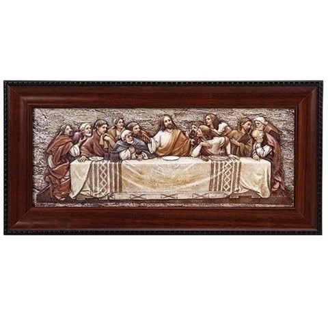 Last Supper Plaque with Frame