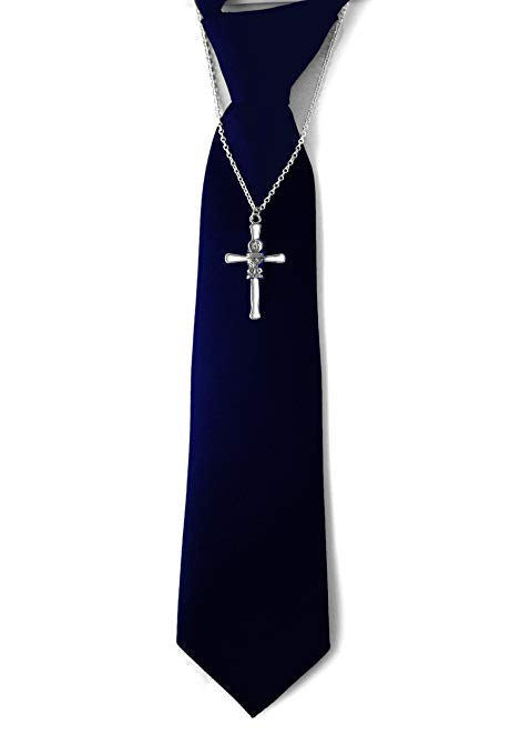 First Communion Tie plain Dark Blue