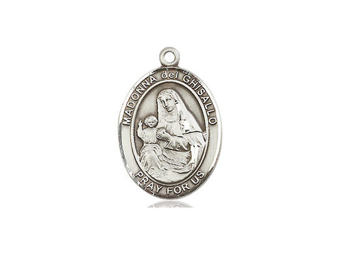 Sterling Silver St Madonna Del Ghisallo Medal