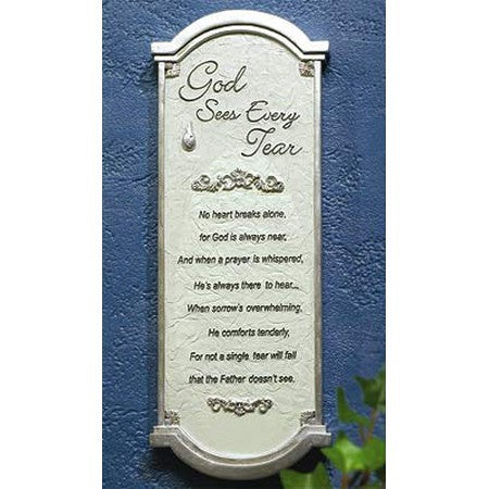God Sees Every Tear Wall Plaque