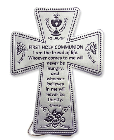 "5"" FIRST COMMUNION STANDING MESSAGE CROSS"