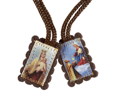 Small Brown Wool Scapular