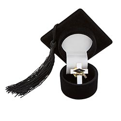 Graduation Cap with Pin