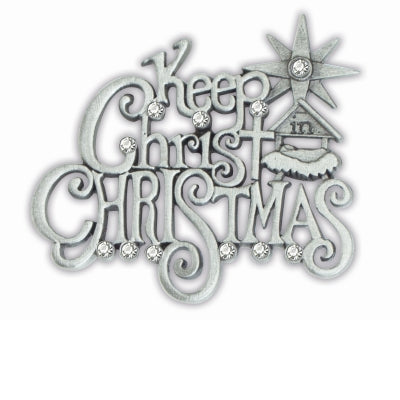 Keep Christ in Christmas Nativity Pin