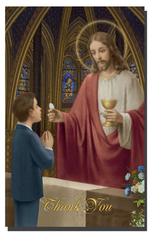 First Communion Thank You Cards w/ Envelopes - Boy