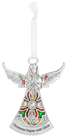 Angel Ornament - Christmas begins with Christ