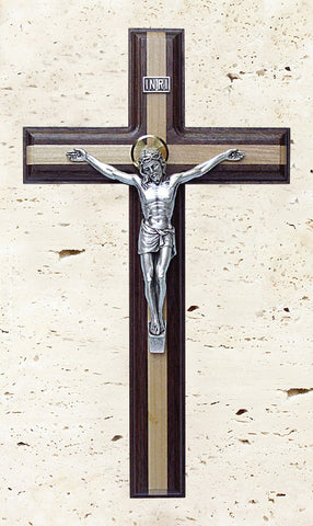 "11"" Walnut Crucifix with Maple Inlay"