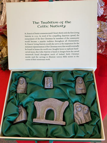 "2""H SIX PIECE CELTIC NATIVITY SET"
