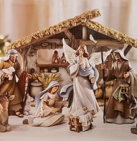 Bethlehem Nights Twelve-Piece Nativity Set with Creche