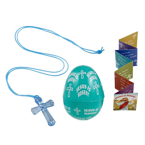 Jesus is Risen! Easter Egg with Cross Pendant