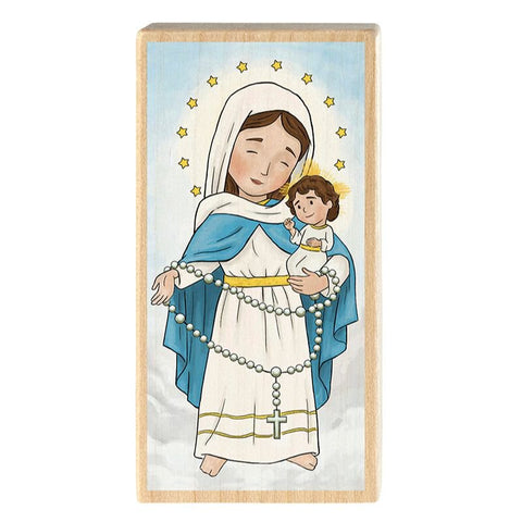 Mini Saints Block - Our Lady of the Rosary