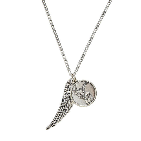 "St. Michael Medal and Wing Pendant, 22"" Chain"