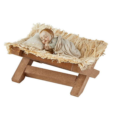 "4"" Sleeping Infant Jesus in Manger - Statue"
