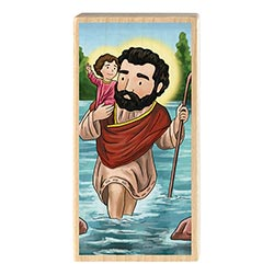 Mini Saints Block - St. Christopher