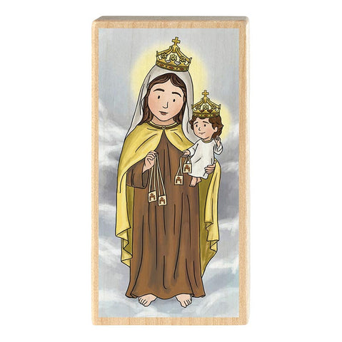 Mini Saint Block - Our Lady of Mt. Carmel