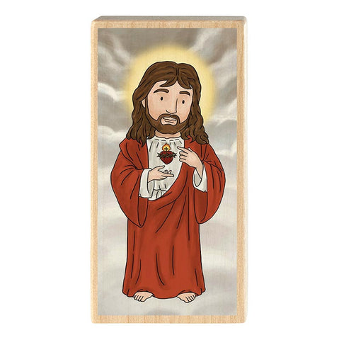 Mini Saint Block - Sacred Heart of Jesus