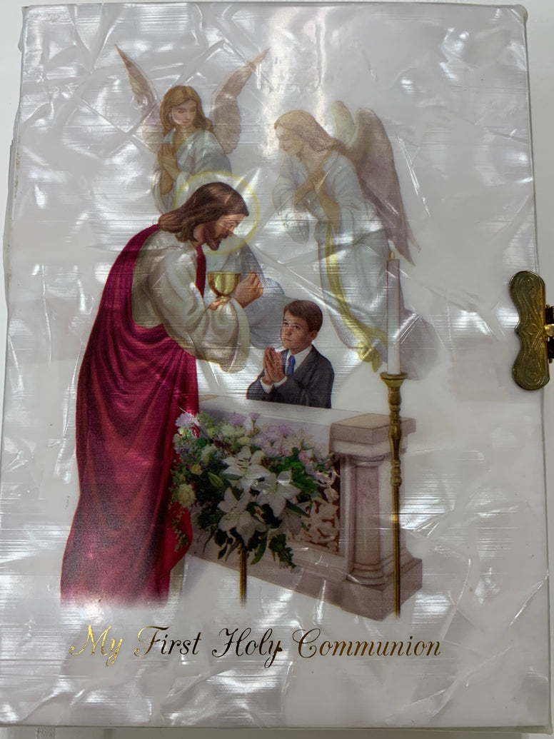 My First Holy Communion Missal White Pearl Boy