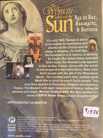The Woman Clothed with the Sun - Rue de Bac, Beauraing & Banneux  EWTN Network DVD