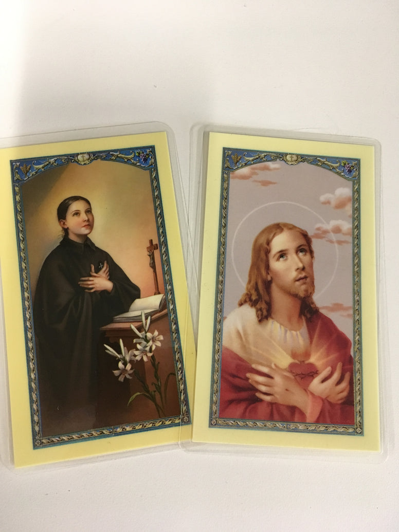 Holy Card, laminated, assorted
