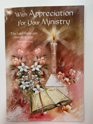 With Appreciation for Your Ministry Greeting Card