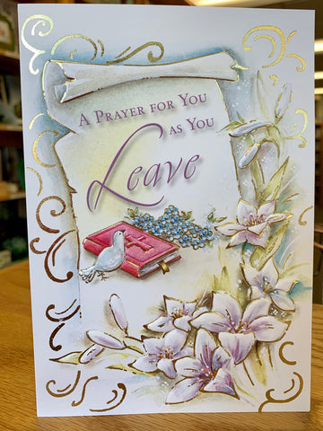 A Prayer for You as You Leave Greeting Card